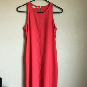 Small Maurices coral shift dress